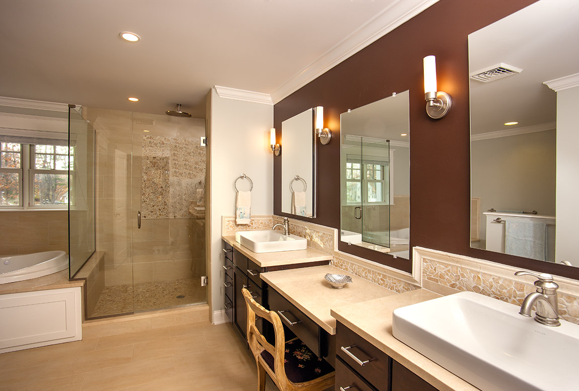 A Beautiful Bathroom Renovation by Willoughby Construction LLC